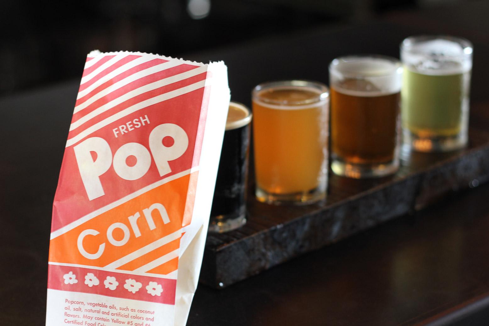 32 North San Diego CA Brewery Free Popcorn