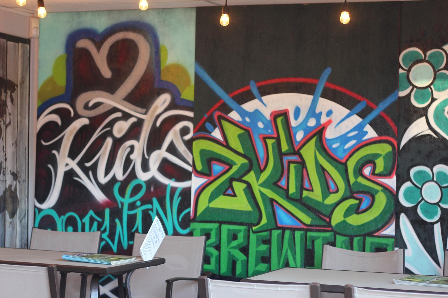2KidsBrewingCo Graffiti Murals